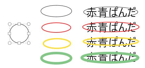 円形(不透明)の例