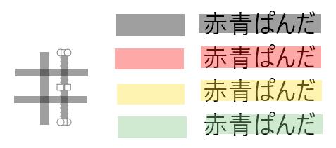 四角形(半透明)の例